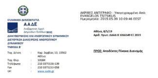 Πρόσκληση για στελέχωση του Κέντρου Είσπραξης Οφειλών (Κ.Ε.ΟΦ.) Αττικής